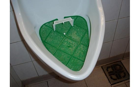 Interactive soccer urinals mcdonalds wee-goal co