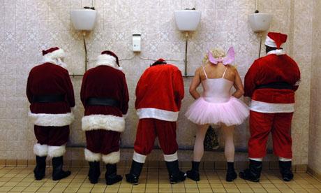 Santas in a row