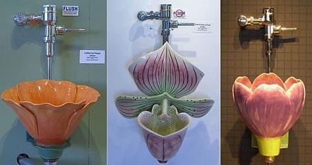 Flower-urinals