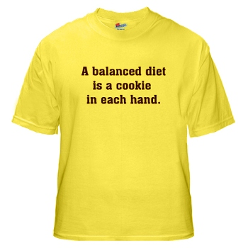 Balanced diet funny t shirt